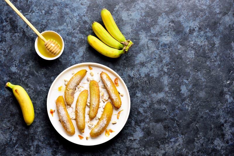 Bananas frias profundas fotografia de stock royalty free