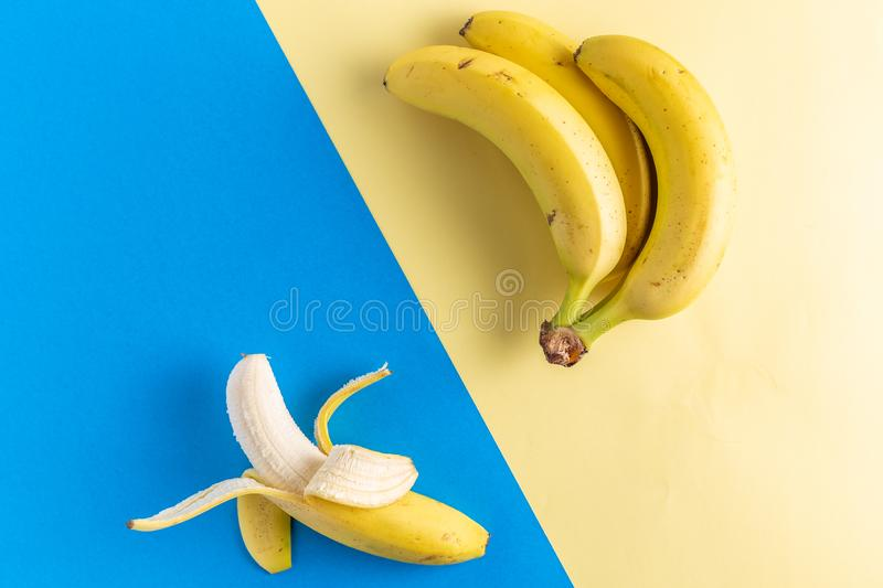 Bananas fruits on contemporary background. Sample stock photos