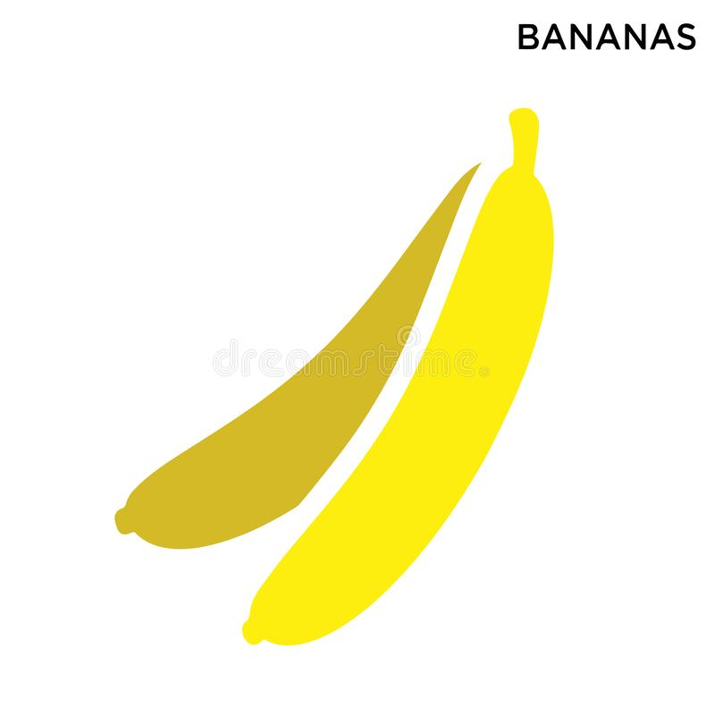 Bananas icon. White background simple element illustration food concept vector illustration