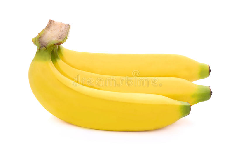 Bananas isolated on the white royalty free stock photos