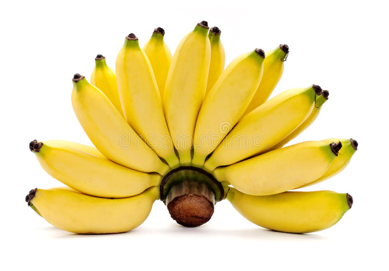 Bananas isolated on the white background royalty free stock images