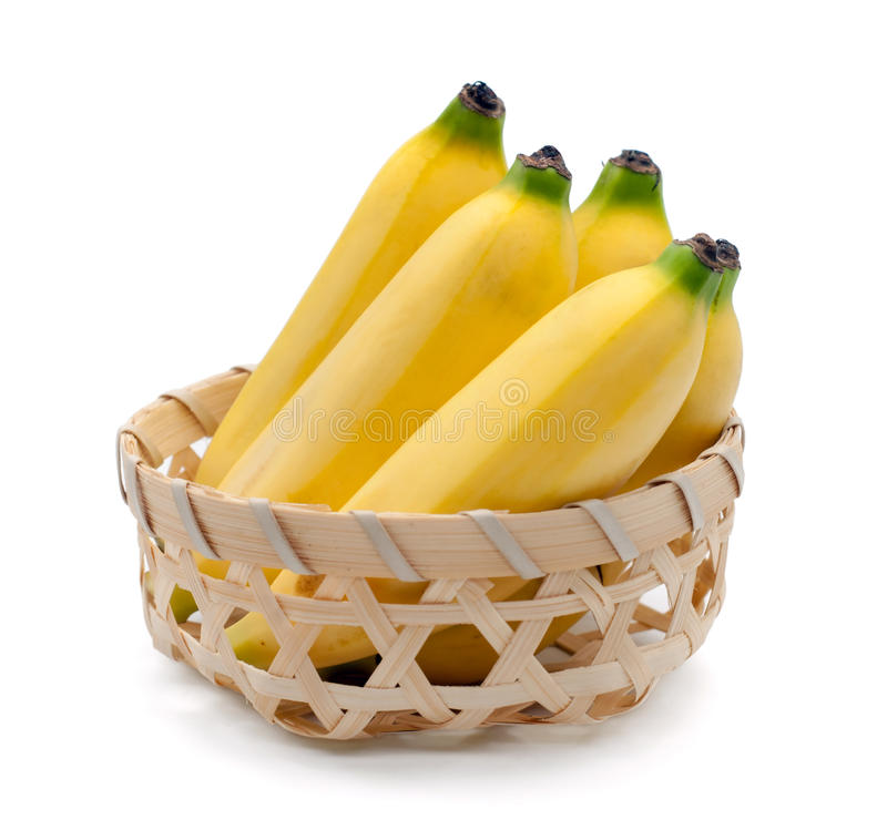 Bananas isolated on the white background royalty free stock image