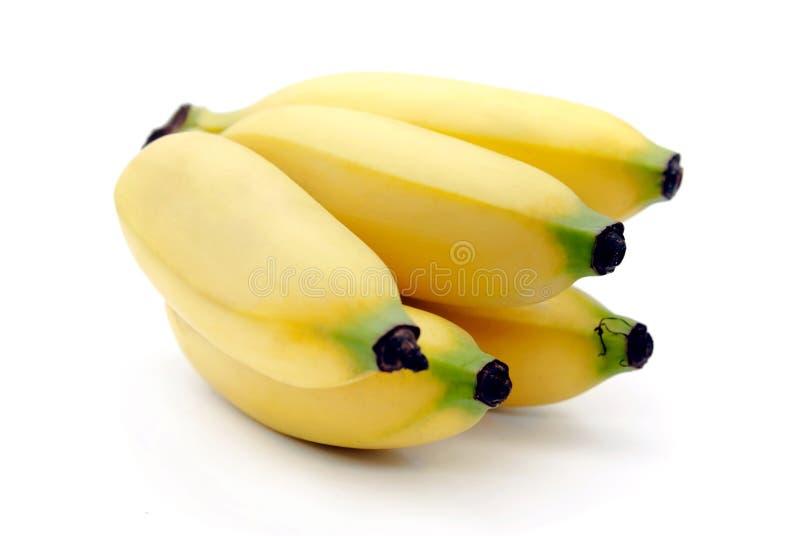 Bananas isolated on the white background stock photos