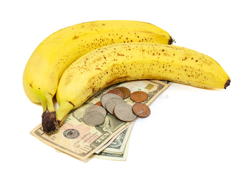 Download Bananas With Money Royalty Free Stock Photos - Image: 21626868