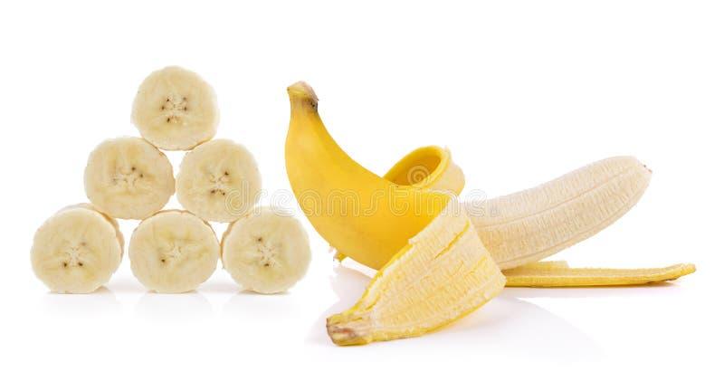 Bananas no fundo branco fotos de stock royalty free