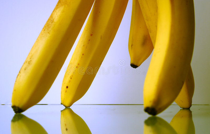 Bananas parade II stock photography