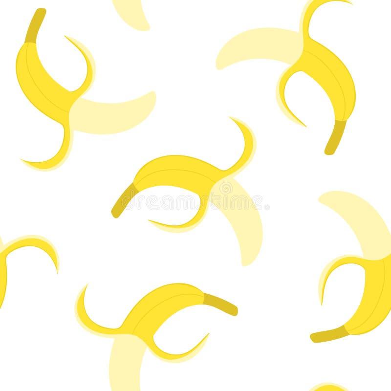 Free Bananas Seamless Pattern, Vector Illustration. Stock Photo - 225057520