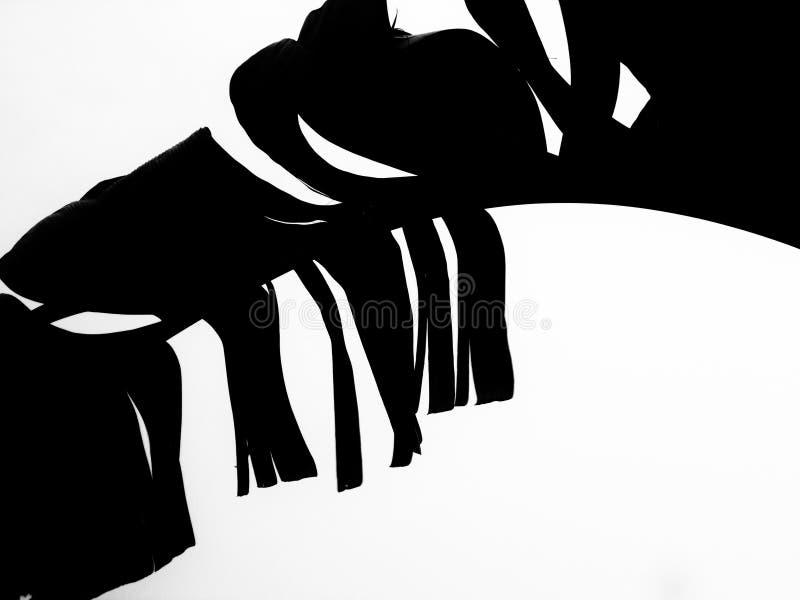 Bananblad på isolerad lösning vektor illustrationer