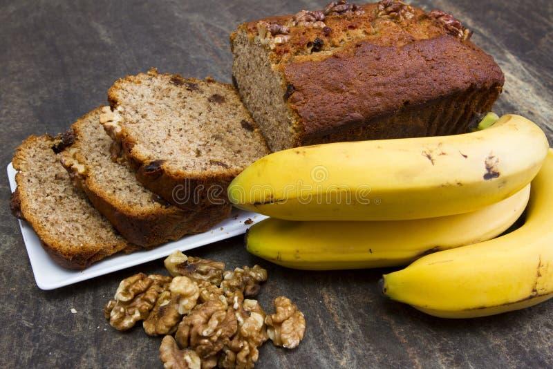 Bananbröd arkivbild