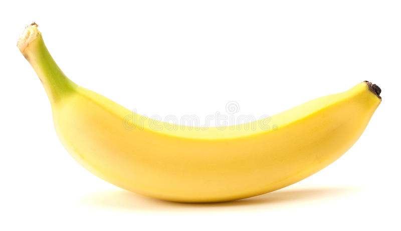 Banane auf einem weißen Hintergrund lizenzfreie stockfotografie