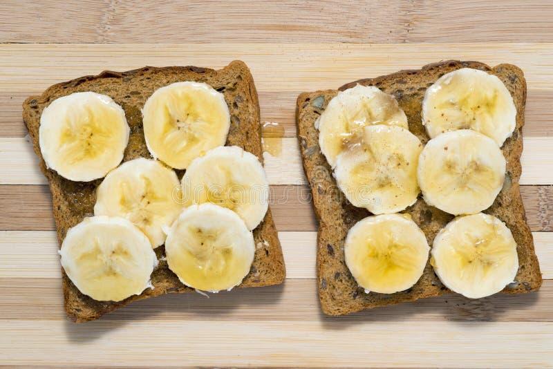 Banane avec du miel photographie stock libre de droits