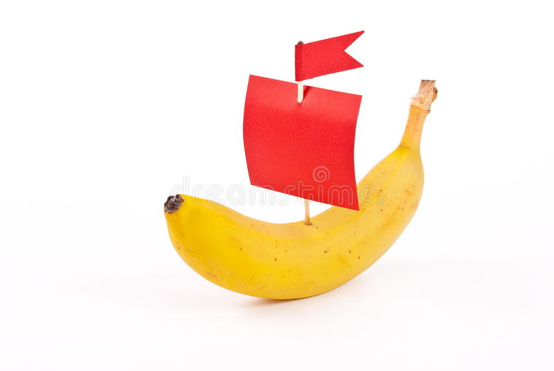 Banane avec la voile rouge photos libres de droits