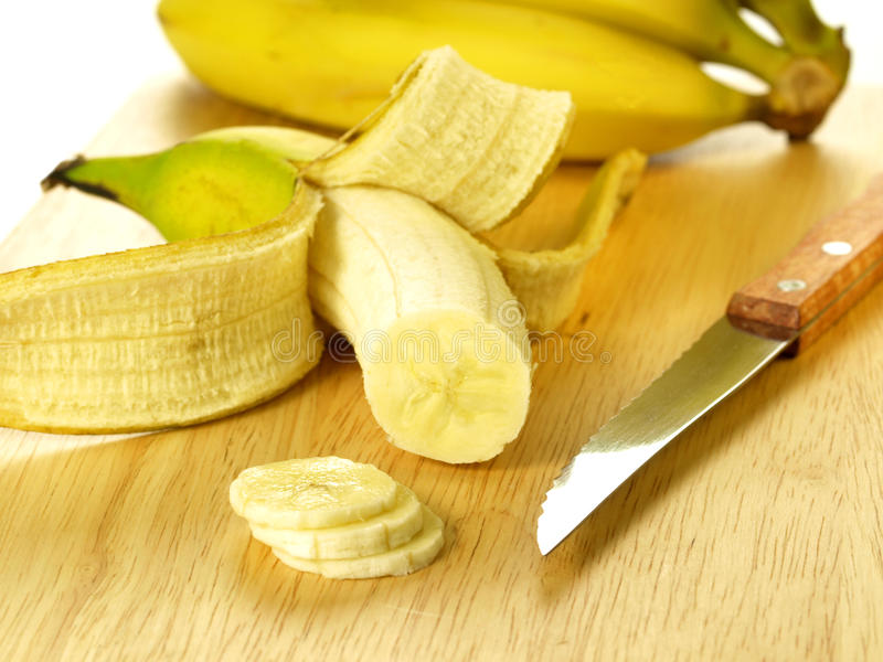 Banane coupée en tranches photographie stock