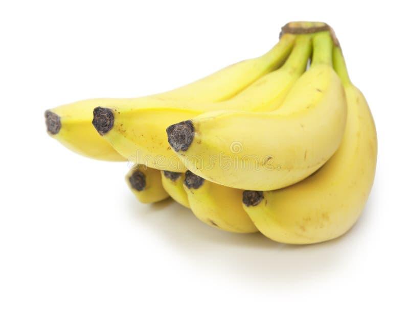 Banane d'isolement sur le blanc photographie stock libre de droits