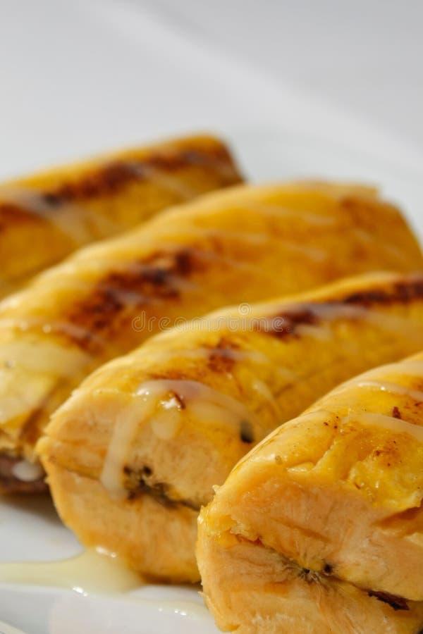 Banane de gril photographie stock libre de droits