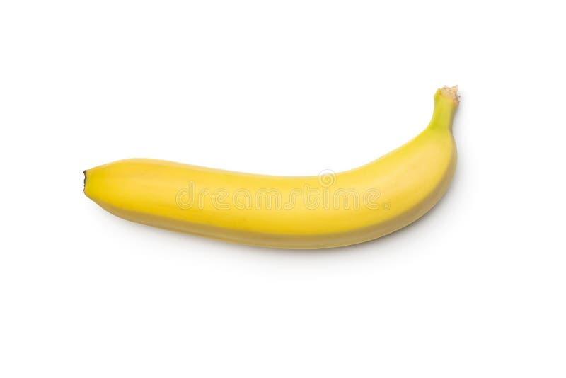 Banane fraîche isolée sur fond blanc images stock