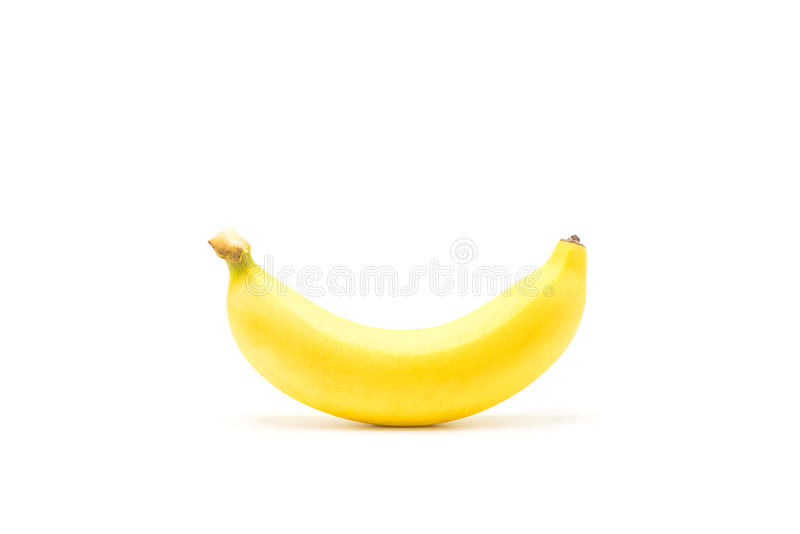 Banane Frutti maturi isolati su fondo bianco immagini stock
