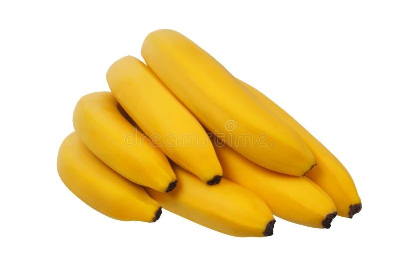 Banane gialle su bianco fotografie stock libere da diritti