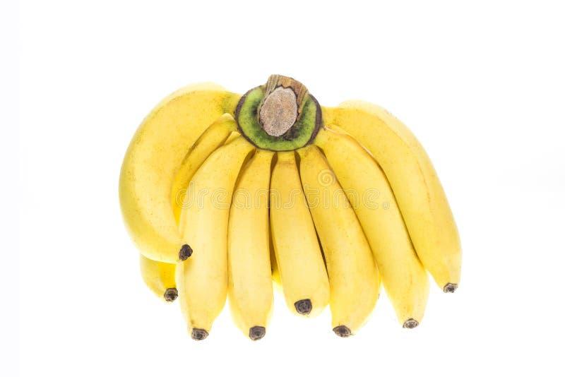 Banane jaune d'isolement sur le fond blanc image libre de droits