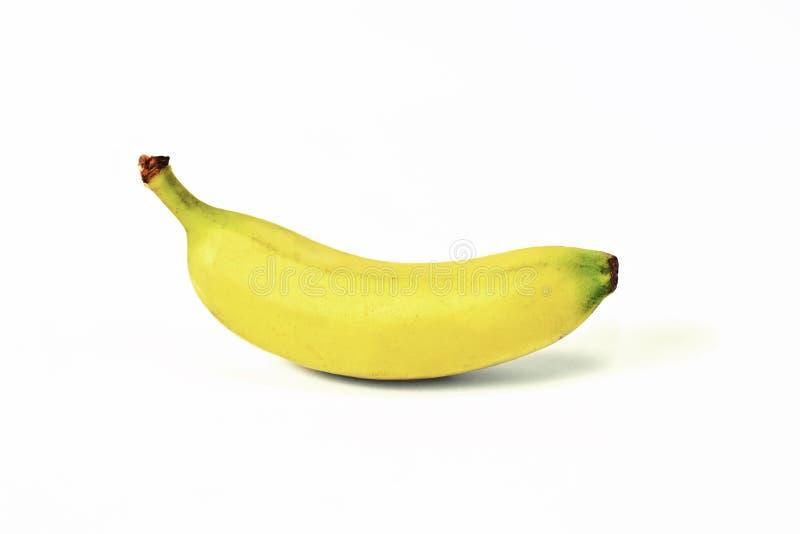 Banane mûre fraîche isolée sur fond blanc image libre de droits