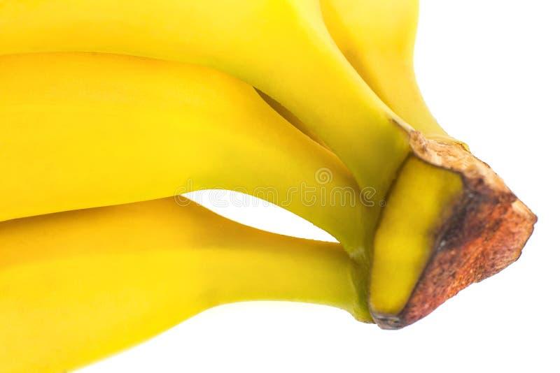 Banane mûre pour le régime et l'exercice sur fond blanc photo stock