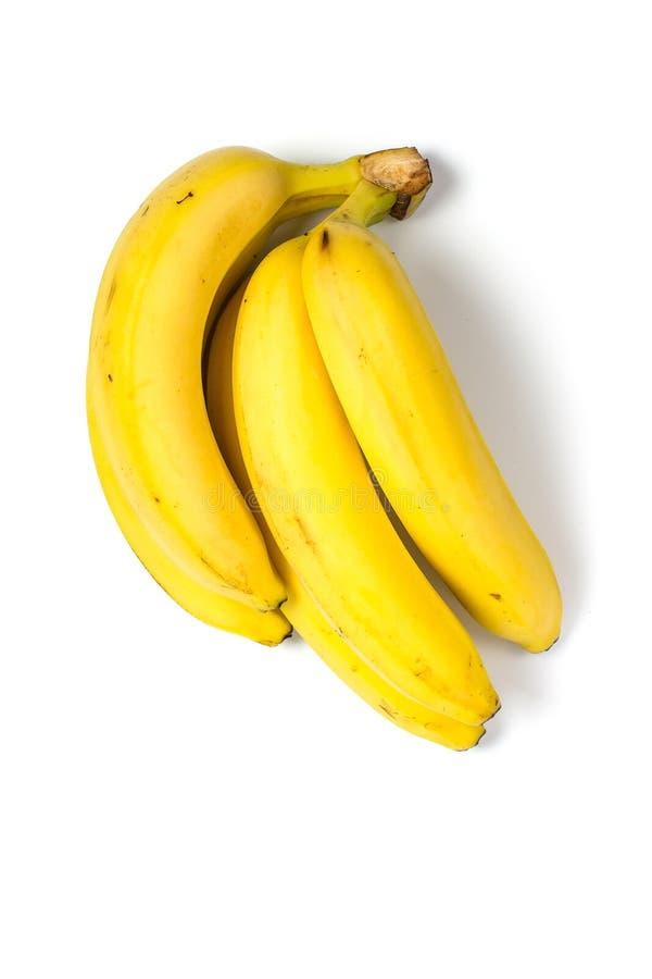 Banane mûre pour le régime et l'exercice sur fond blanc image libre de droits