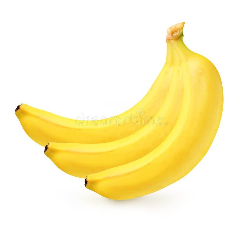Banane mûre d'isolement photographie stock libre de droits