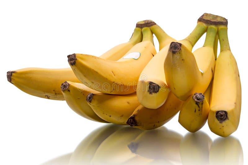 Banane mature gialle immagine stock