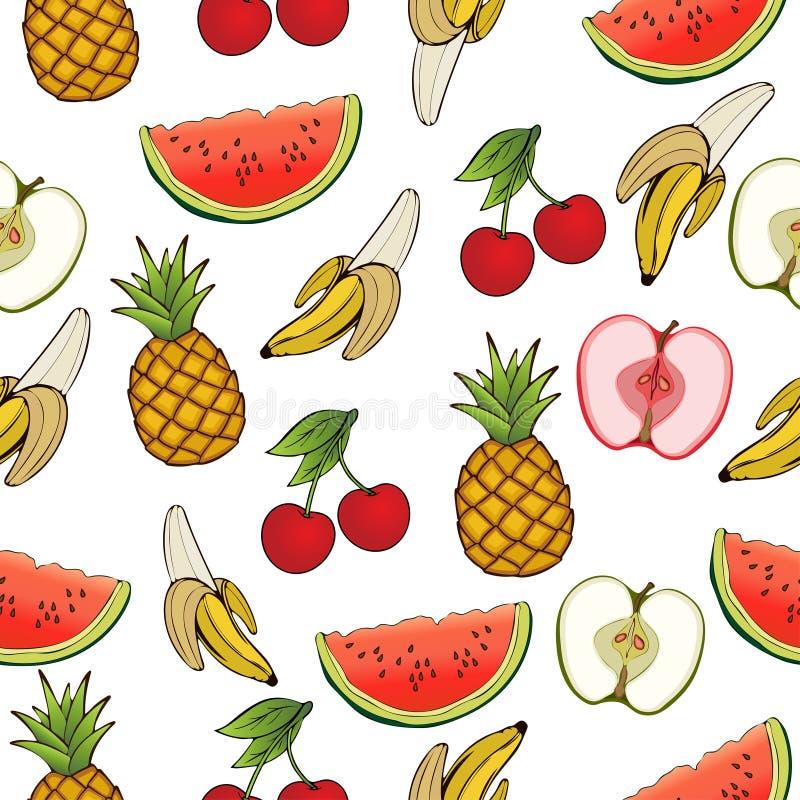 Banane pomme ananas cerise past que mod le sans - Cerise dessin ...