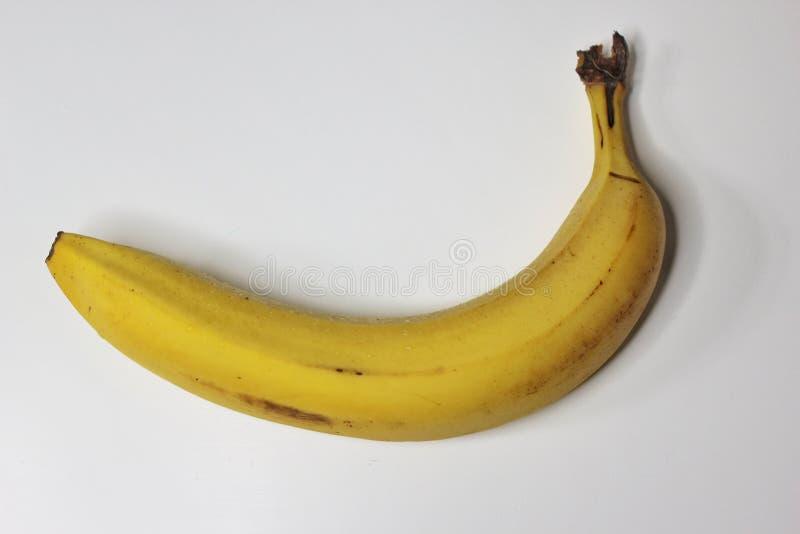 Banane sur le blanc photo libre de droits