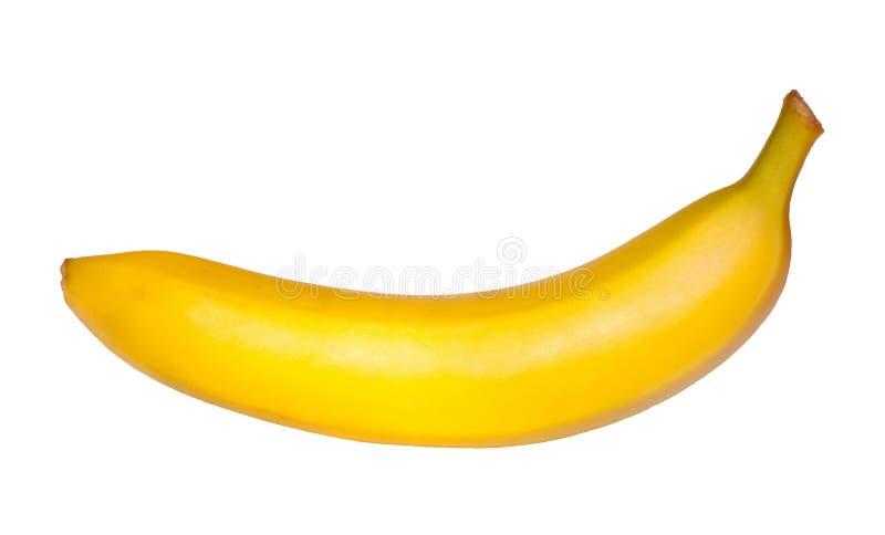 Banane sur le fond blanc image libre de droits