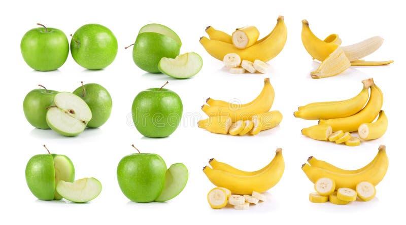Bananen auf weißem Hintergrund stockbild