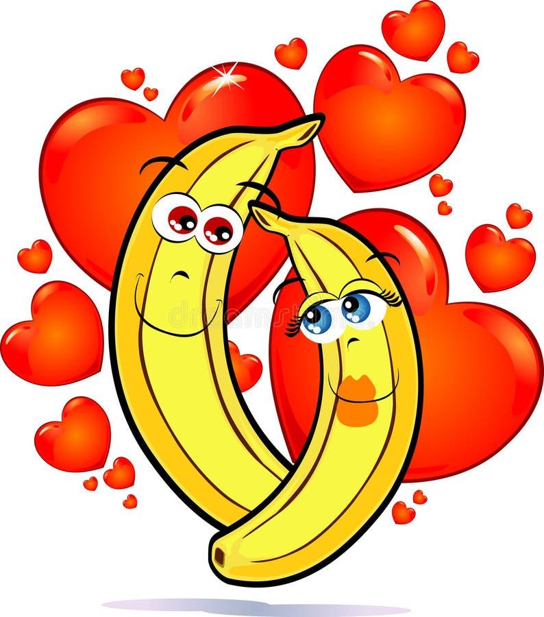 Bananen in der Liebe stock abbildung