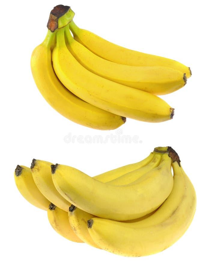 Bananen die op witte achtergrond worden geïsoleerdn royalty-vrije stock foto