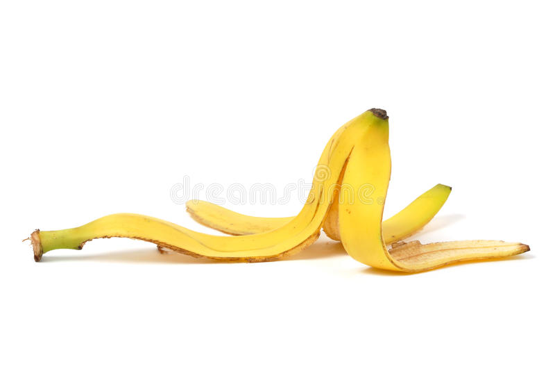 Bananen-Haut lizenzfreie stockfotos