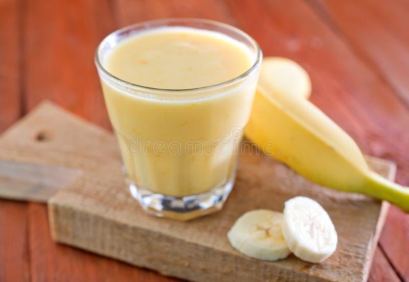Bananen-Jogurt stockfotos