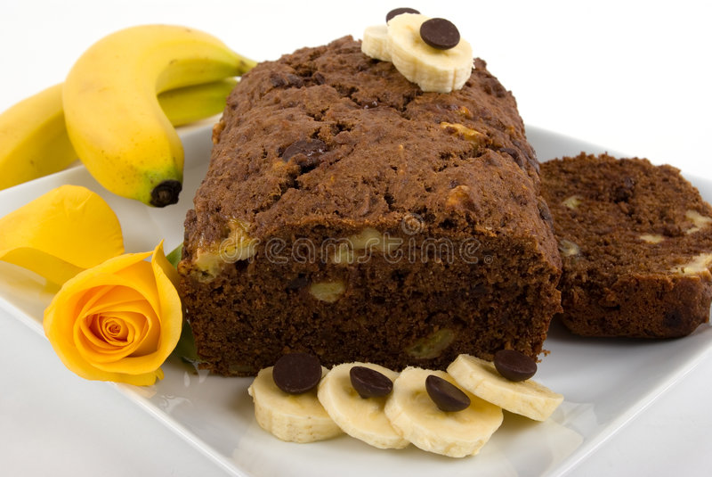 Bananen-Kuchen lizenzfreies stockbild