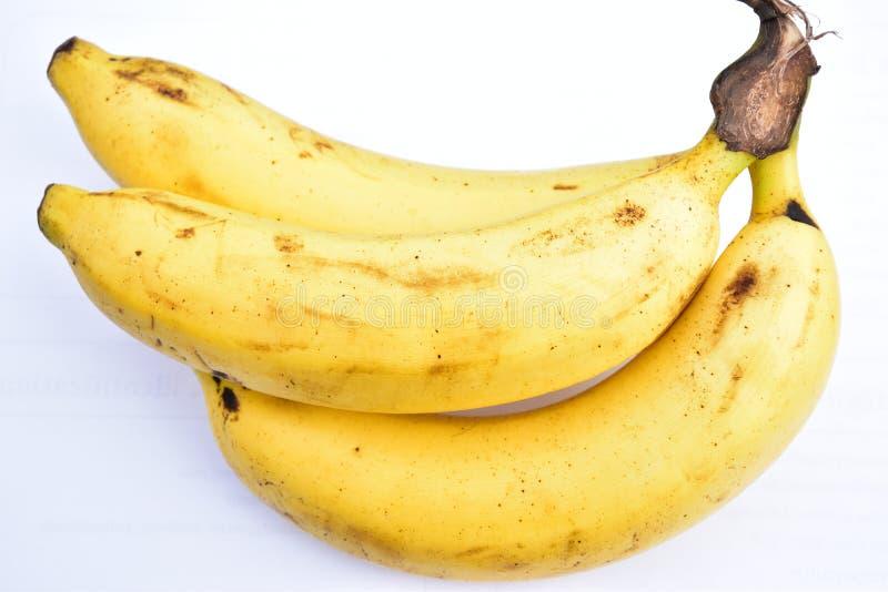 Bananen lokalisieren auf weißem Hintergrund lizenzfreies stockbild