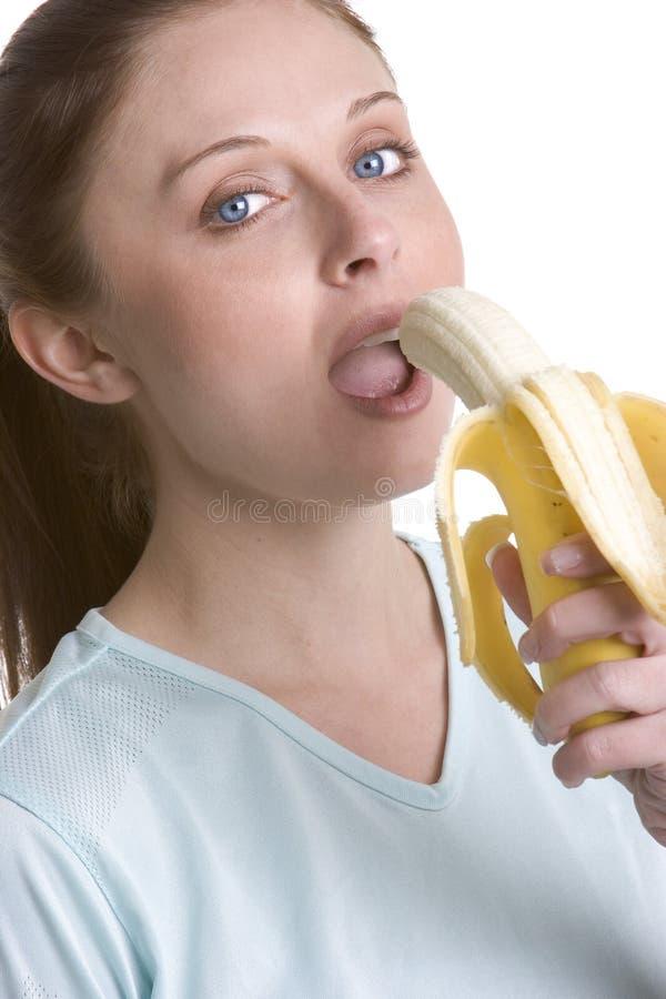 Bananen-Mädchen lizenzfreie stockfotos
