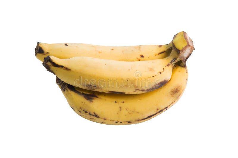 Bananen op de witte achtergrond stock foto's