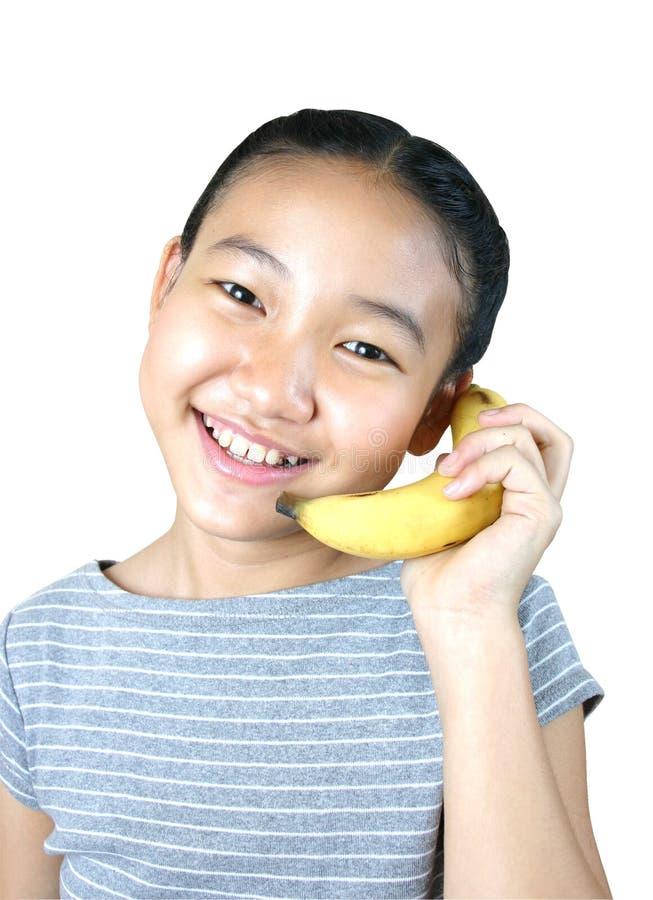 Bananen-Telefon (Serien) stockbilder