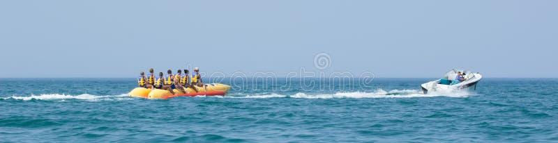 Bananenboot stockfotografie