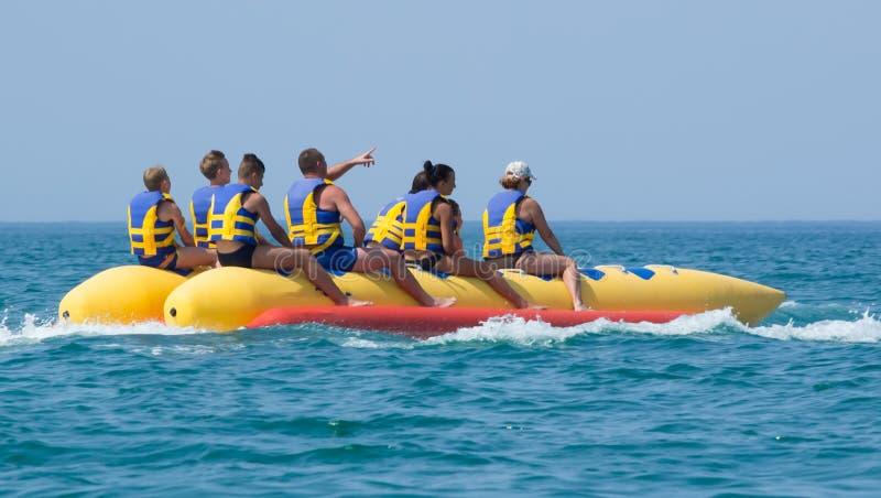 Bananenboot lizenzfreie stockbilder