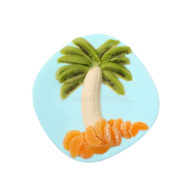 Bananeninsel stockfoto