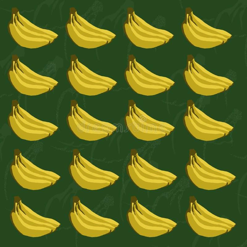 Bananenmuster stock abbildung