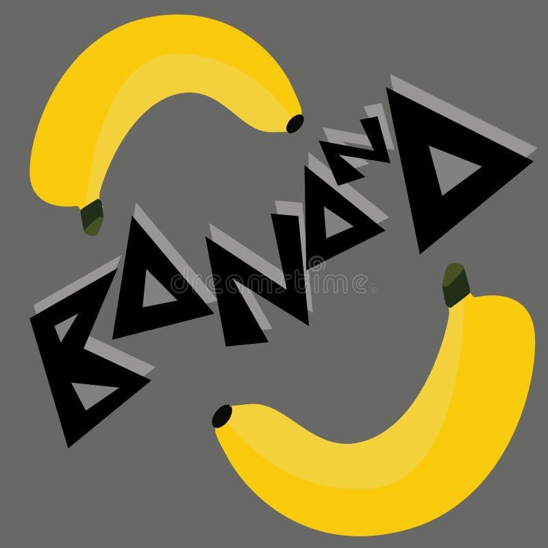 Bananentapetenillustration stockfotos