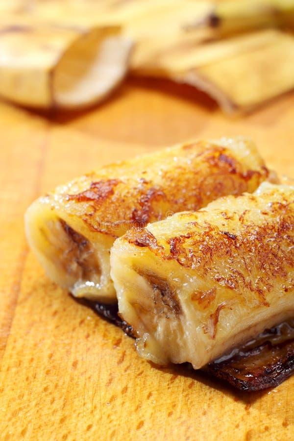 Bananes caramélisées cuites au four images stock