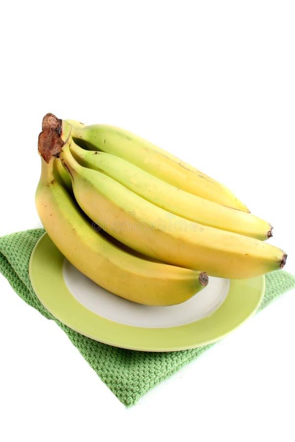 Bananes organiques fraîches images libres de droits