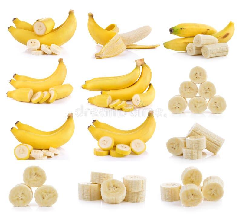 Bananes sur le fond blanc image libre de droits