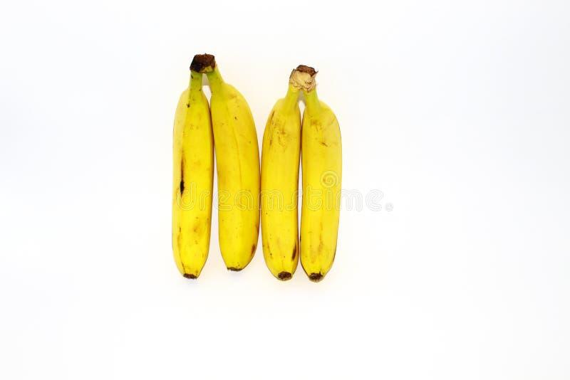 Bananes sur le fond blanc Vue sup?rieure images stock